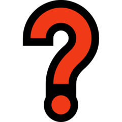 Black Question Mark Ornament microsoft emoji