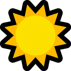 Black Sun With Rays microsoft emoji