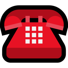 Black Telephone microsoft emoji