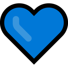 Blue Heart microsoft emoji