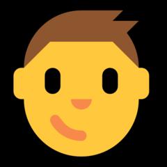Boy microsoft emoji