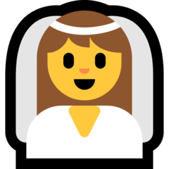 Bride With Veil microsoft emoji