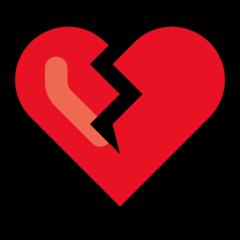 Broken Heart microsoft emoji