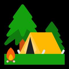Camping microsoft emoji