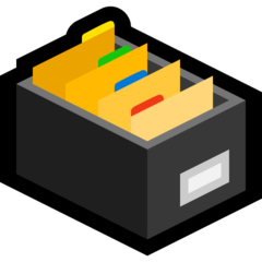 Card File Box microsoft emoji
