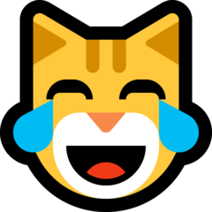 Cat Face With Tears Of Joy microsoft emoji