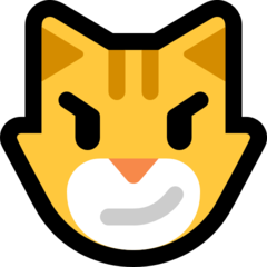 Cat Face With Wry Smile microsoft emoji
