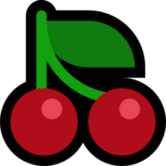 Cherries microsoft emoji