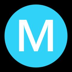 Circled Latin Capital Letter M microsoft emoji