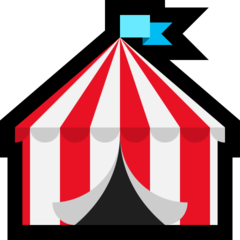 Circus Tent microsoft emoji