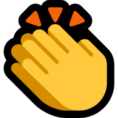 Clapping Hands Sign microsoft emoji
