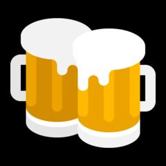 Clinking Beer Mugs microsoft emoji