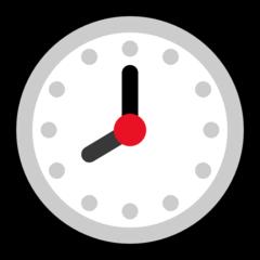 Clock Face Eight Oclock microsoft emoji