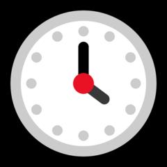 Clock Face Four Oclock microsoft emoji