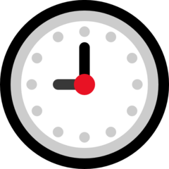 Clock Face Nine Oclock microsoft emoji