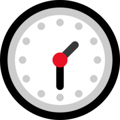 Clock Face One-thirty microsoft emoji