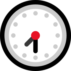 Clock Face Seven-thirty microsoft emoji