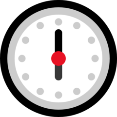 Clock Face Six Oclock microsoft emoji
