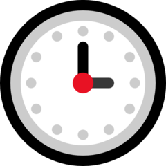 Clock Face Three Oclock microsoft emoji