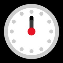 Clock Face Twelve Oclock microsoft emoji