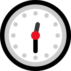 Clock Face Twelve-thirty microsoft emoji