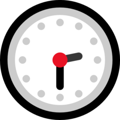 Clock Face Two-thirty microsoft emoji