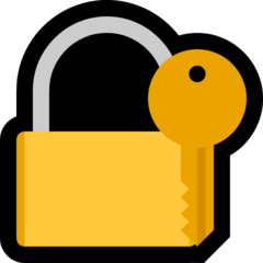 Closed Lock With Key microsoft emoji