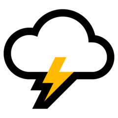 Cloud With Lightning microsoft emoji