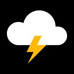 Cloud With Lightning microsoft emoji