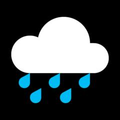 Cloud With Rain microsoft emoji