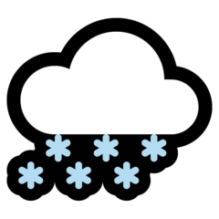 Cloud With Snow microsoft emoji