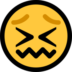 Confounded Face microsoft emoji