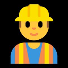 Construction Worker microsoft emoji