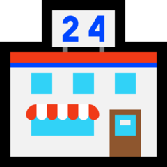 Convenience Store microsoft emoji