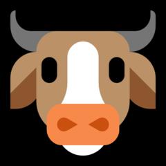 Cow Face microsoft emoji