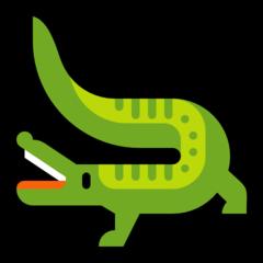 Crocodile microsoft emoji