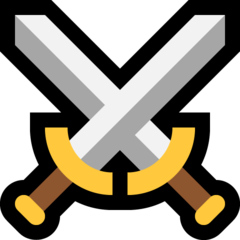 Crossed Swords microsoft emoji
