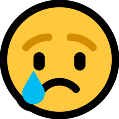 Crying Face microsoft emoji