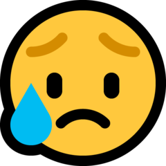 Disappointed But Relieved Face microsoft emoji