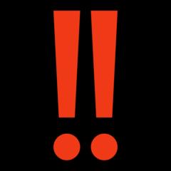 Double Exclamation Mark microsoft emoji