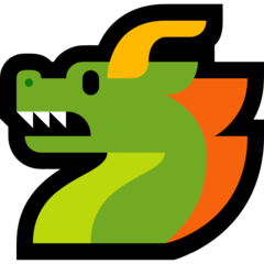 Dragon Face microsoft emoji
