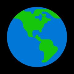Earth Globe Americas microsoft emoji