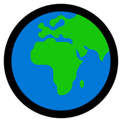 Earth Globe Europe-africa microsoft emoji