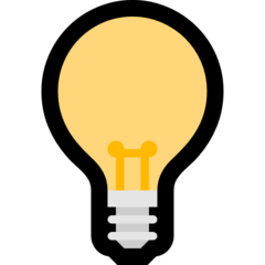 Electric Light Bulb microsoft emoji