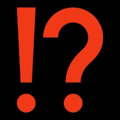 Exclamation Question Mark microsoft emoji