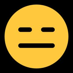 Expressionless Face microsoft emoji