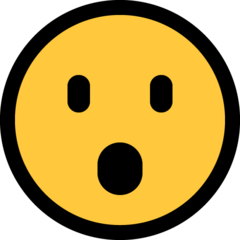 Face With Open Mouth microsoft emoji