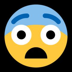 Fearful Face microsoft emoji