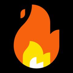 Fire microsoft emoji