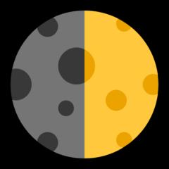 First Quarter Moon Symbol microsoft emoji